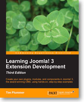 Learning Joomla! 3 Extension Development - book cover